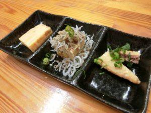 刺身定食の小鉢_180223