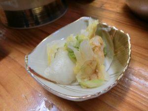 刺身定食の漬物_190223