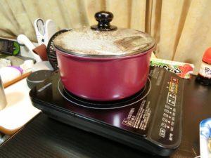 IH調理器で姫貝の酒蒸し_190223