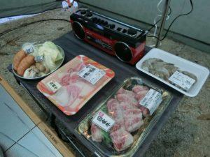 キャンプの夕食食材_190330