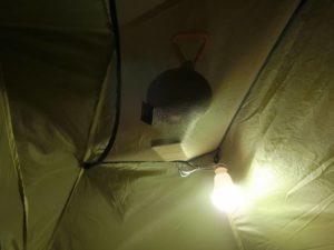 テント内でLED照明_190420