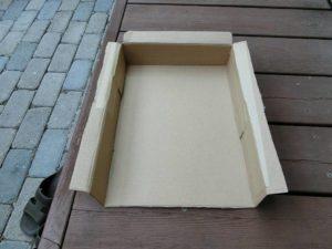 ダンボール箱でダクトを作成_190605