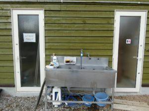 真狩焚き火キャンプ場の水場とトイレ_190502