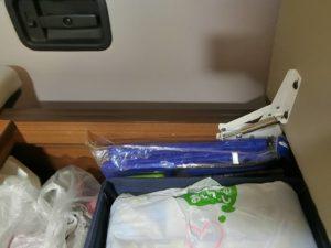 ソフトクーラーバッグはベッド下収納へ_190504