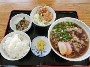そば定食_750円_肉トッピング100円_190505