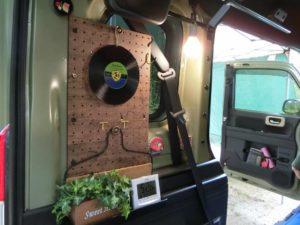 レコード型のシリコン鍋敷き_190803