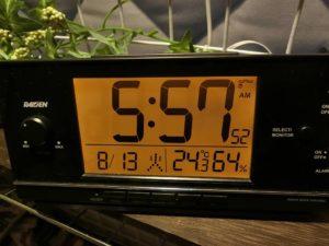 夏の朝の車内温度_190813