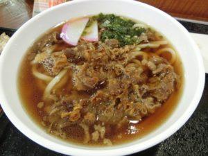 広島空港の肉うどん_191110