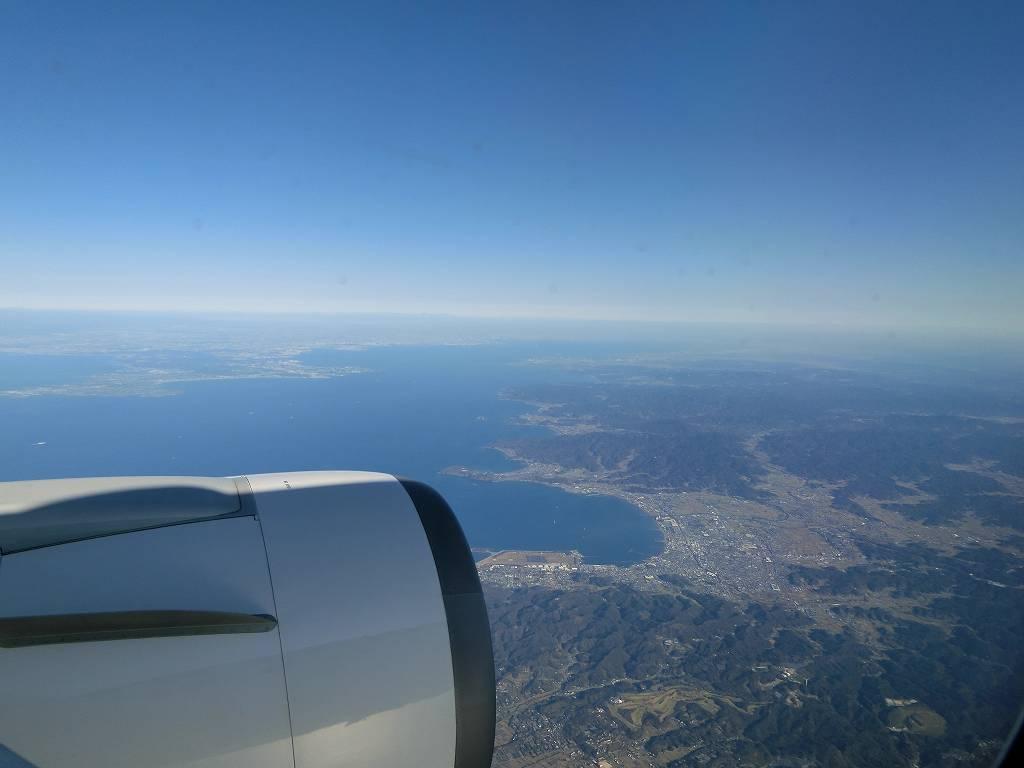 飛行機から見る東京の上空_191110
